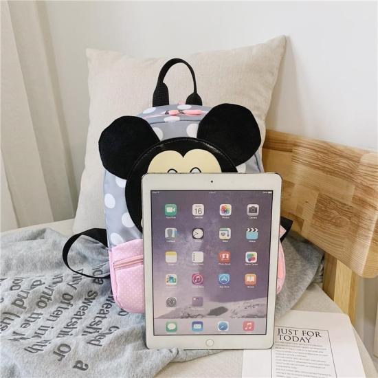 Ghiozdan gradinita roz Minnie Mouse cu bretele reglabile