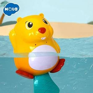 Jucarie de baie bebe Castorul luminos se joaca Hola