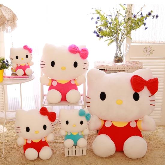 Jucarie plus Hello Kitty Papusa cu fundita