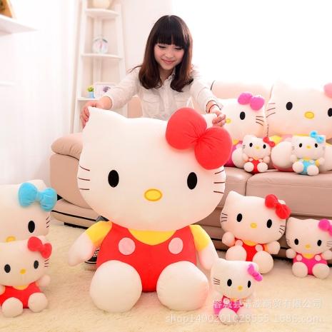 Jucarie plus Hello Kitty Pisicuta cu fundita