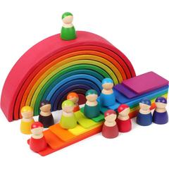 Jucarii creative Set 11 placute Montessori Curcubeu