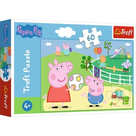 Puzzle Trefl Peppa Pig Prietenii se distreaza cu 60 piese