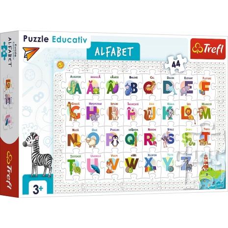 Puzzle Trefl educativ Alfabetul in limba romana 44 piese