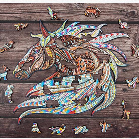 Puzzle din lemn Calul Jigsaw 151 piese Animale
