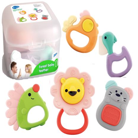 Set 5 Jucarii bebe pentru dentitie Forest Baby Hola