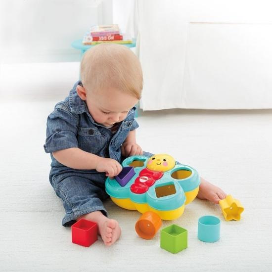 Sortator bebe Forme geometrice colorate Fluture colorat