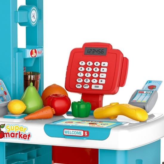 Supermarket cu carucior de cumparaturi Casa de marcat 56pc