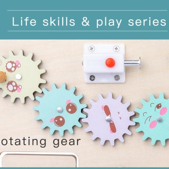 Tabla Placa Montessori cu activitati educative Busy Board